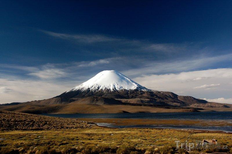 Fotka, Foto Sopka Parinacota v Národním parku Lauca (Chile)