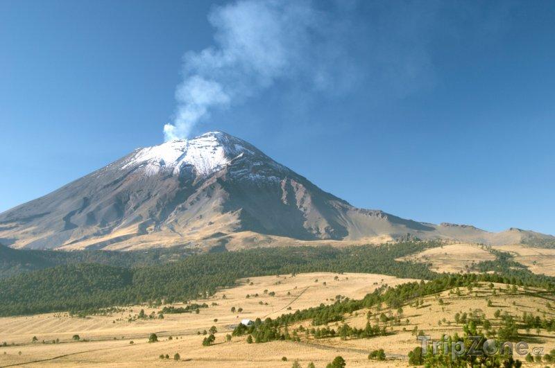 Fotka, Foto Sopka Popocatepetl, aktivní (Mexiko)