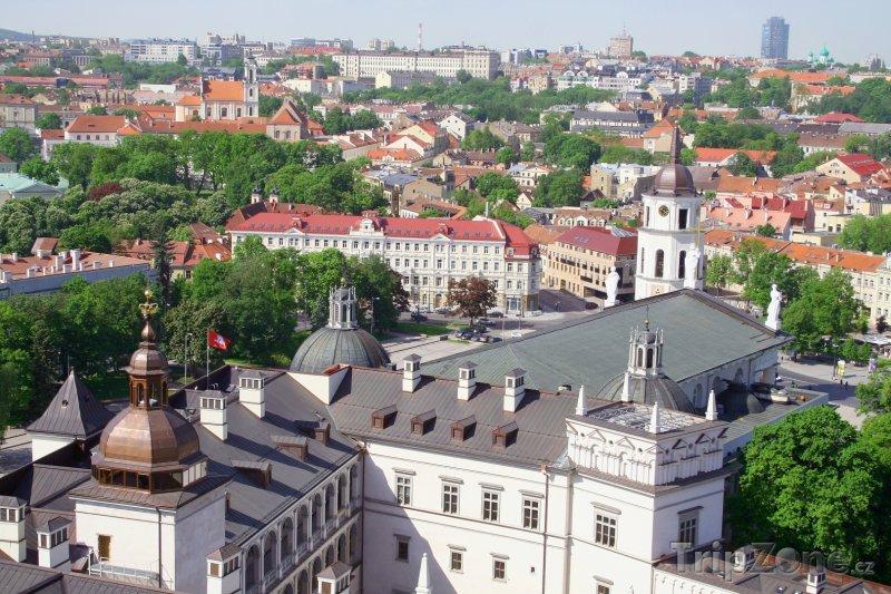 Fotka, Foto Staré město a katedrála ve Vilniusu (Litva)