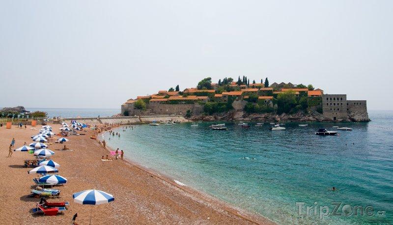 Fotka, Foto Sveti Stefan, pláž (Černá Hora)