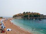 Sveti Stefan, pláž