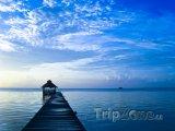 Svítání na ostrově Amergris Caye