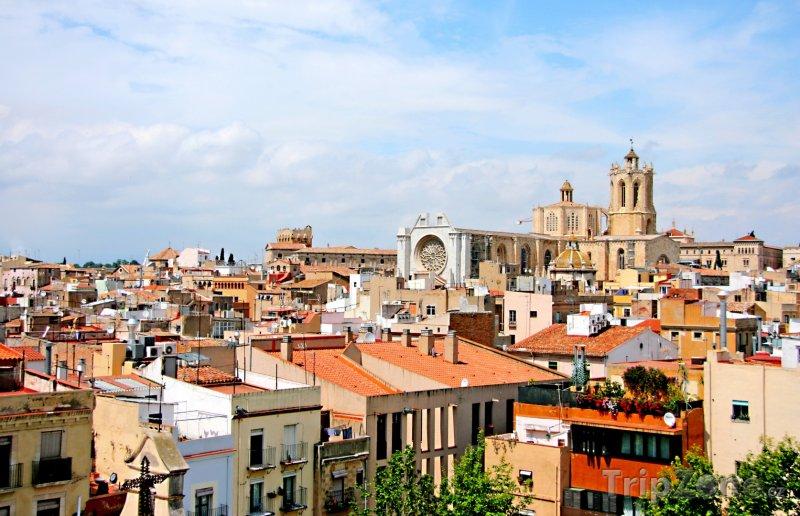 Fotka, Foto Tarragona - panoráma města, katedrála (Costa Dorada, Španělsko)