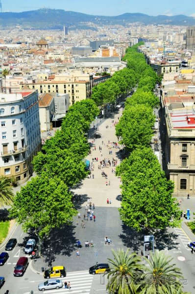 Fotka, Foto Třída La Rambla (Barcelona, Španělsko)