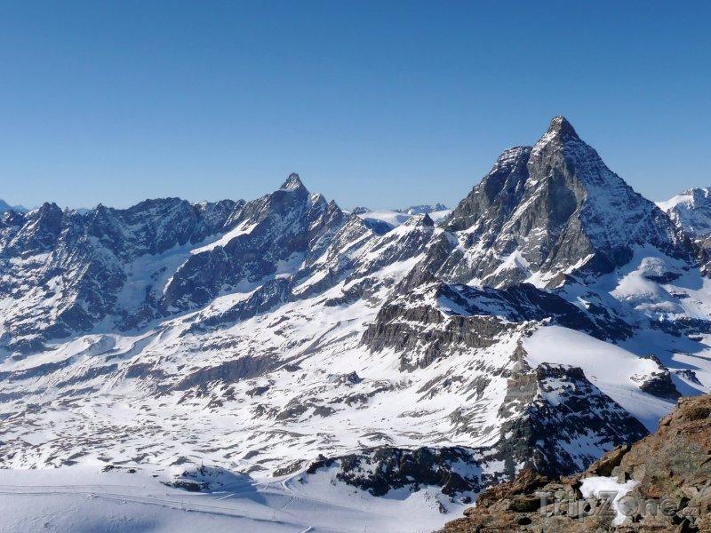 Fotka, Foto Vrcholek hory Matterhorn (Švýcarsko)