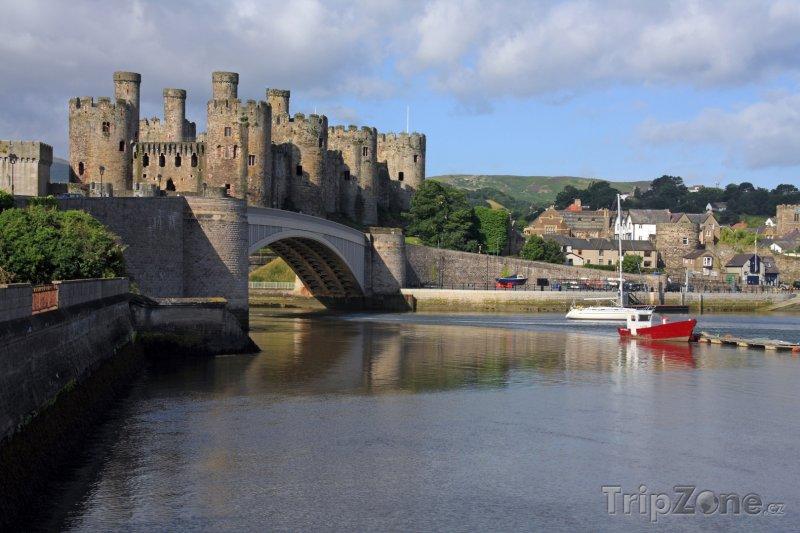 Fotka, Foto Wales - hrad Conwy (Velká Británie)