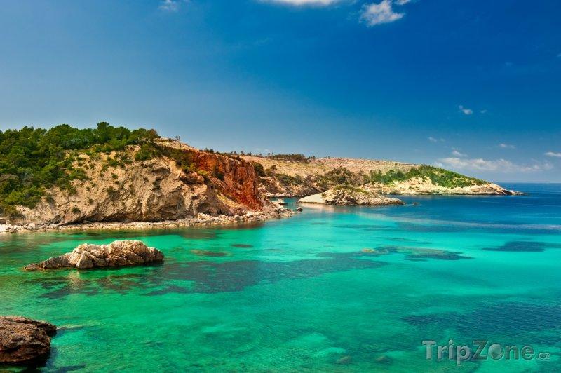 Fotka, Foto Záliv Cala Xarraca (Ibiza, Španělsko)