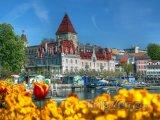 Zámek Ouchy v Lausanne