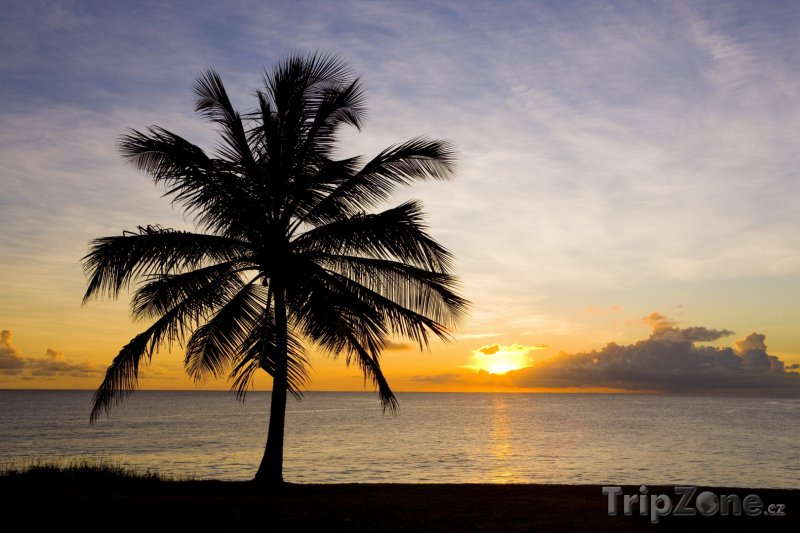 Fotka, Foto Západ slunce v oblasti Saint John (Barbados)