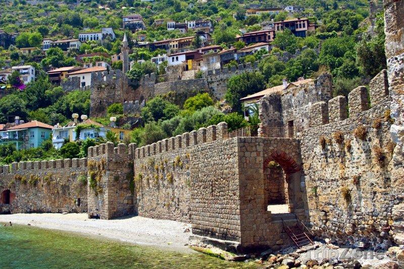 Fotka, Foto Alanya - hradby města (Turecko)
