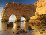 Algarve, skalní útvary na pobřeží