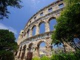 Amfiteátr ve městě Pula, poloostrov Istrie