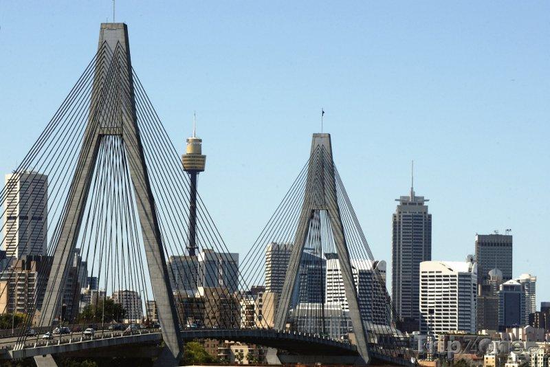 Fotka, Foto Anzac Bridge v Sydney (Sydney, Austrálie)