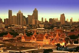 Bangkok, Královský palác a mrakodrapy