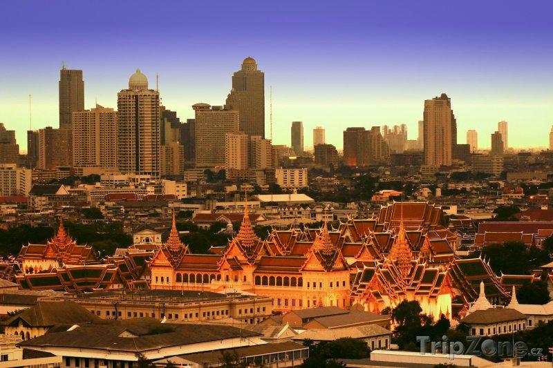 Fotka, Foto Bangkok, Královský palác a mrakodrapy (Thajsko)
