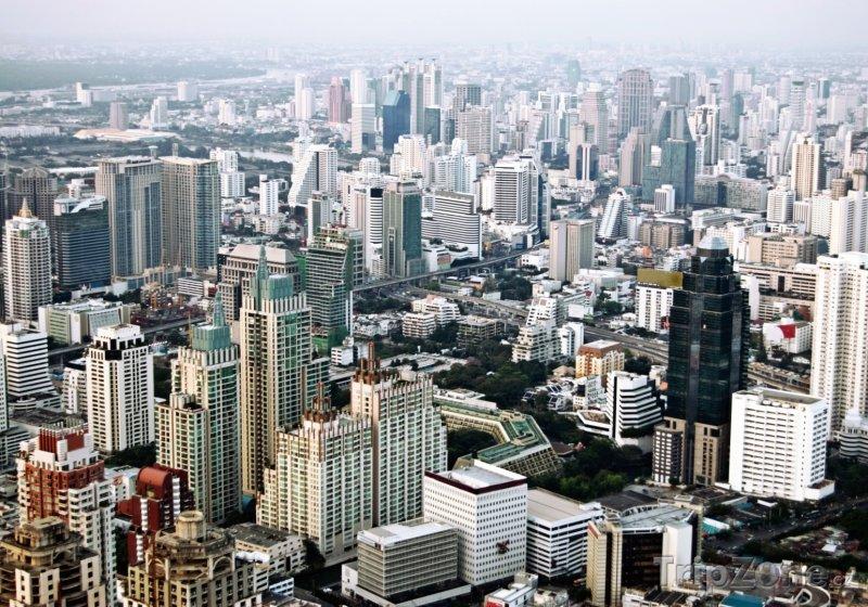 Fotka, Foto Bangkok z ptačí perspektivy (Thajsko)