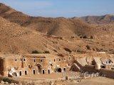Beduínské obydlí v tuniské poušti