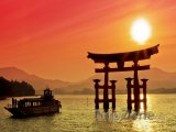 Brána Torii u svatyně Icukušima