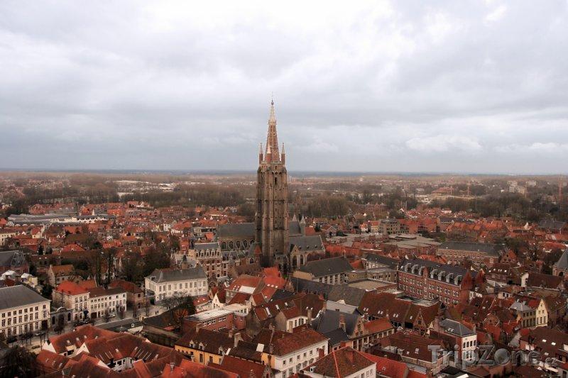 Fotka, Foto Bruggy, panoráma města, kostel Panny Marie (Belgie)