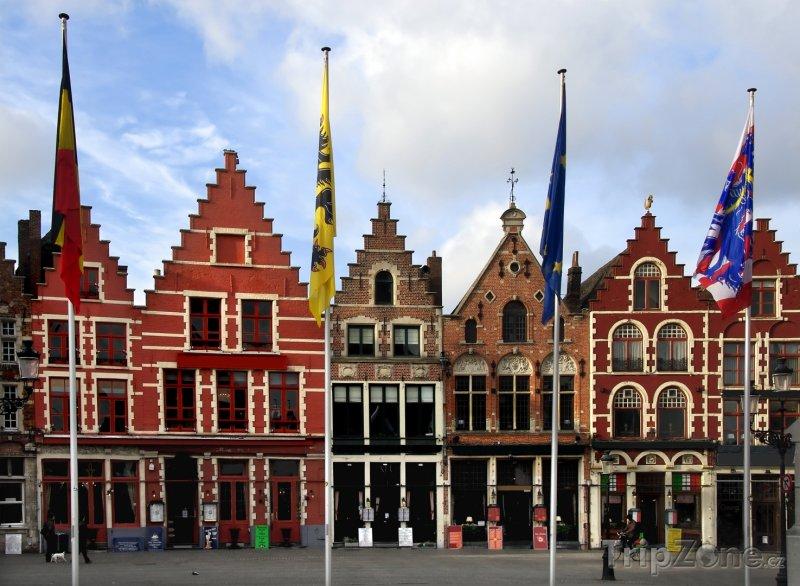 Fotka, Foto Bruggy, typické domy (Belgie)