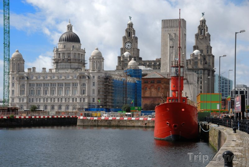 Fotka, Foto Budovy Tři grácie (Liverpool, Velká Británie)