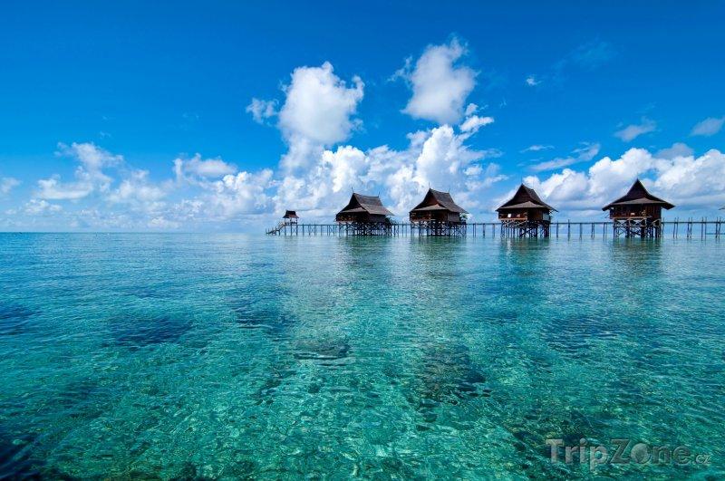 Fotka, Foto Bungalovy na ostrově Kapalai (Malajsie)