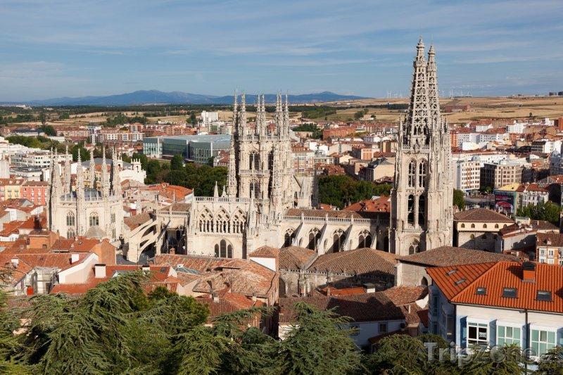 Fotka, Foto Burgos, panoráma města, katedrála (Španělsko)