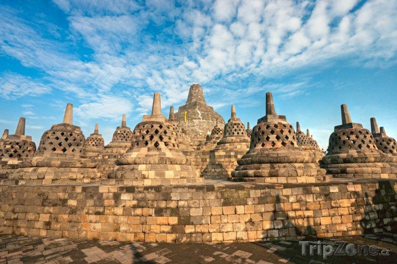 Fotka, Foto Chrámový komplex Borobudur ve městě Magelang na Střední Jávě (Indonésie)