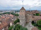 Císařský hrad a panorama města Norimberk