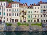 Domy na nábřeží Lublanice