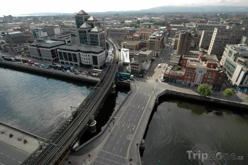 Fotka, Foto Dublin z ptačí perspektivy (Dublin, Irsko)