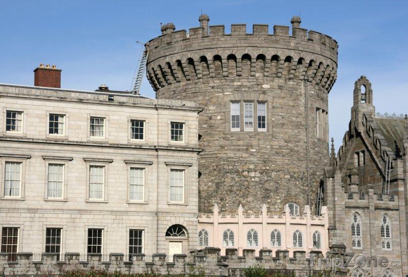 Fotka, Foto Dublinský hrad, věž (Dublin, Irsko)