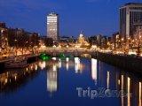 Dublinský O'Connell Bridge na sklonku dne