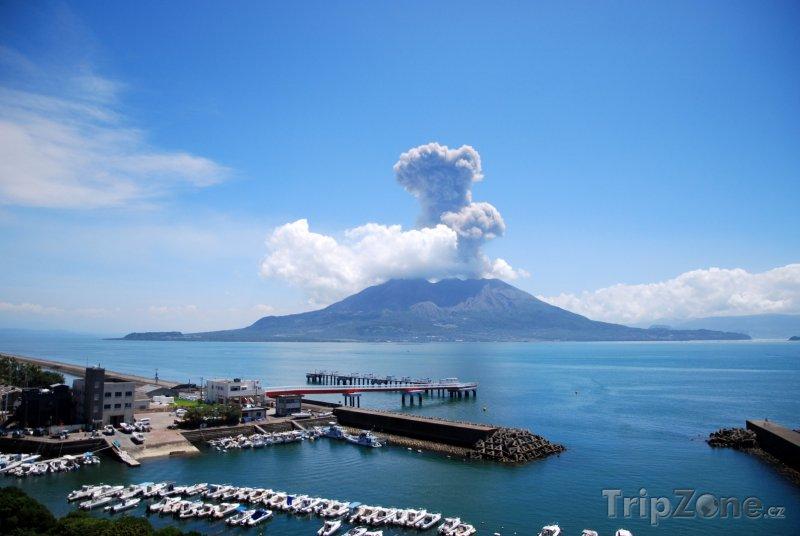 Fotka, Foto Erupce sopky (Japonsko)
