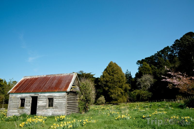 Fotka, Foto Farmářský domek v regionu Taranaki (Nový Zéland)