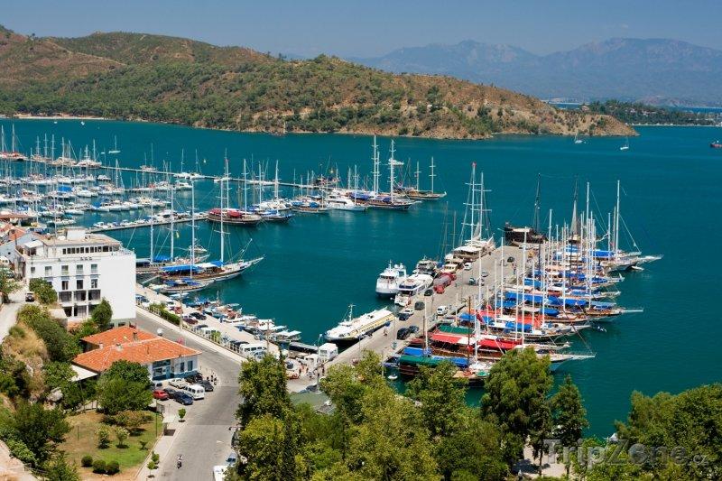 Fotka, Foto Fethiye, pohled na přístav (Egejská riviéra, Turecko)
