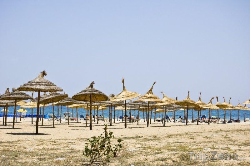 Fotka, Foto Hammamet, pláž (Tunisko)