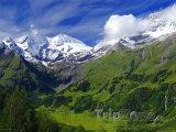 Hora Grossglockner v rakouských Alpách