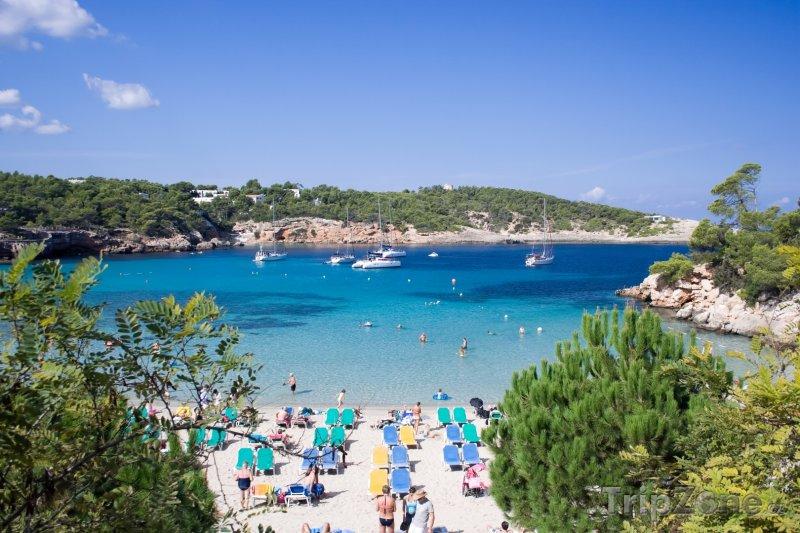 Fotka, Foto Ibiza, pláž rezortu Portinatx (Ibiza, Španělsko)