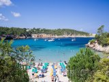 Ibiza, pláž rezortu Portinatx