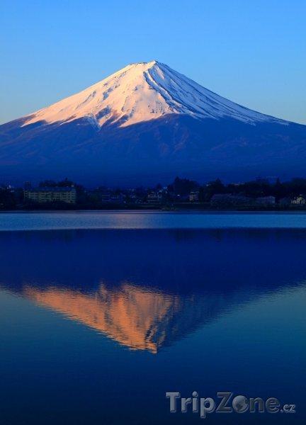 Fotka, Foto Jezero Kawaguči a hora Fudži (Japonsko)
