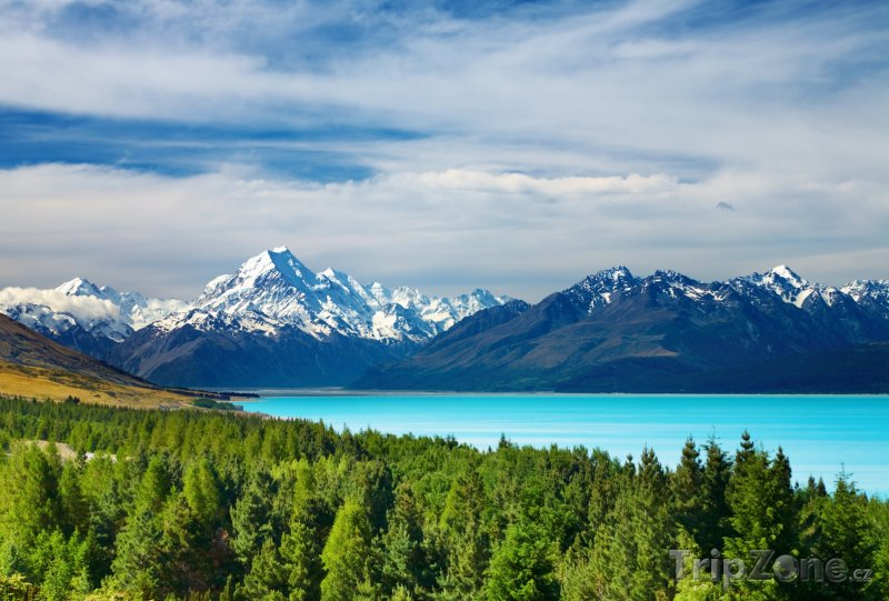 Fotka, Foto Jezero Pukaki (Nový Zéland)