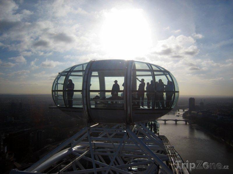 Fotka, Foto Kabinka vyhlídkového kola London Eye (Londýn, Velká Británie)