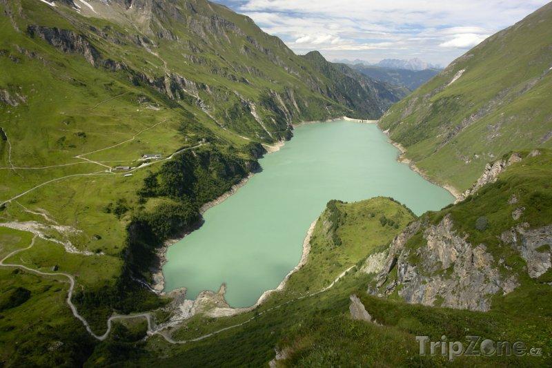 Fotka, Foto Kaprun, přehrada hydroelektrárny Mooserboden (Rakouské Alpy, Rakousko)