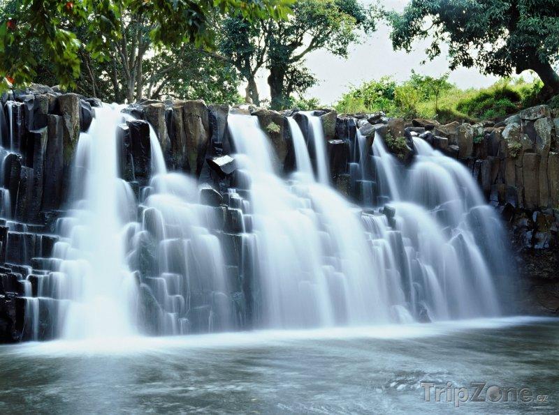 Fotka, Foto Kaskádový vodopád (Mauricius)