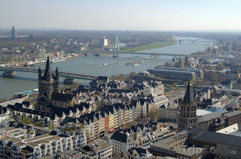 Fotka, Foto Kolín nad Rýnem - panorama města (Německo)