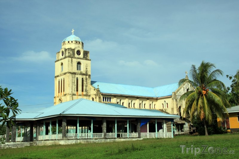 Fotka, Foto Kostel v regionu Vaisigano na ostrově Savaii (Samoa)