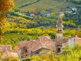 Kostel ve vesnici Motovun, poloostrov Istrie