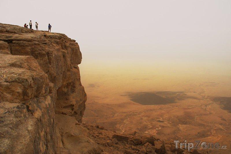 Fotka, Foto Kráter Machteš Ramon v Negevské poušti (Izrael)