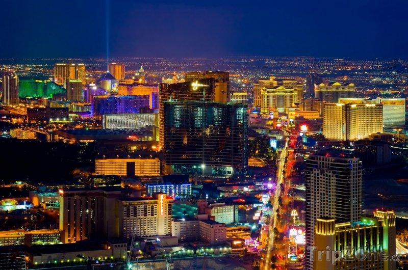 Fotka, Foto Las Vegas, pohled na noční město (USA)